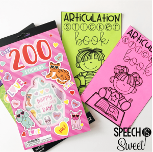 articulation sticker book for speech therapy