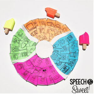 Summer speech therapy craft. This beach ball craft is engaging and fun!