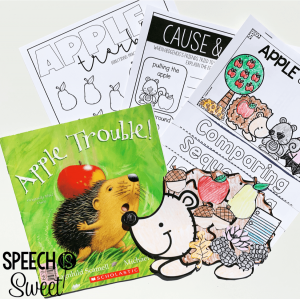 Apple Trouble Activities for Speech-Language Therapy!